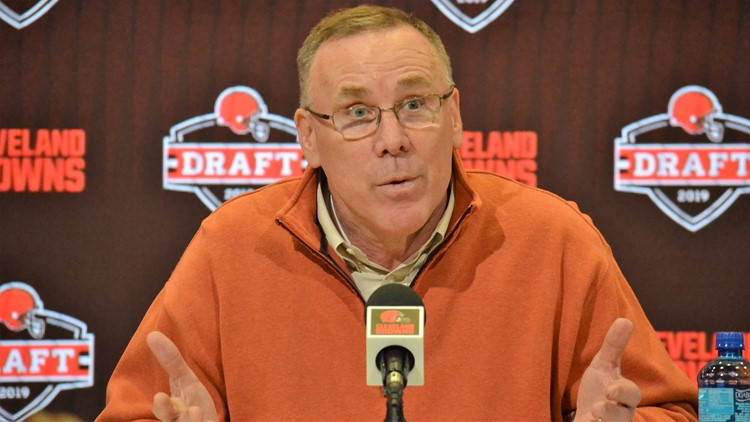 Cleveland Browns GM John Dorsey at 2019 NFL Draft