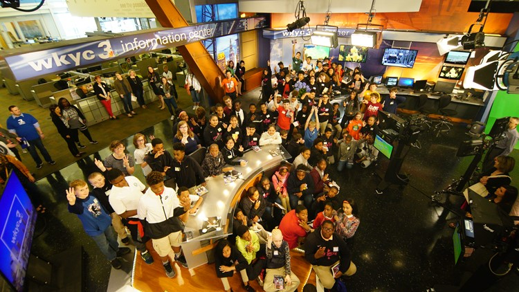 200 Sixth Graders from LeBron James Family Foundation in Akron visit WKYC (photos)
