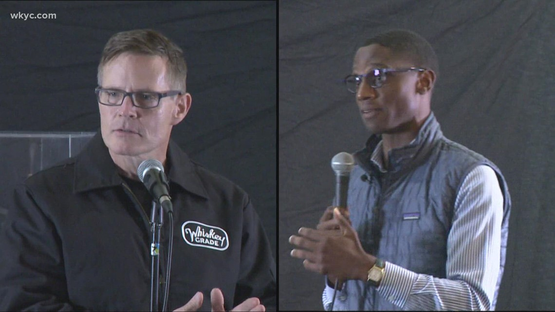 Mayoral candidates Justin Bibb and Kevin Kelley square off in debate at Cleveland African-American Museum
