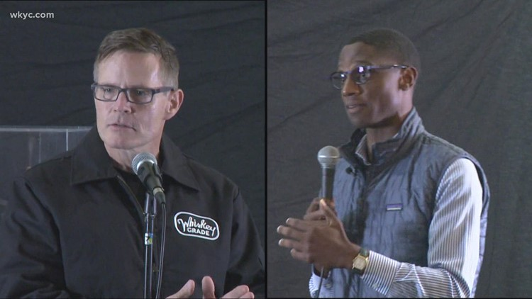 Mayoral candidates Kevin Kelley and Justin Bibb square off in debate at Cleveland African-American Museum