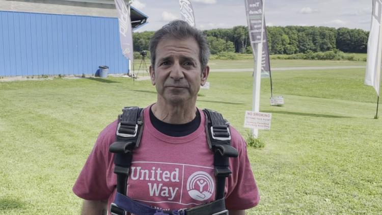 Wickliffe City School Superintendent skydives to help raise money for the United Way of Lake County
