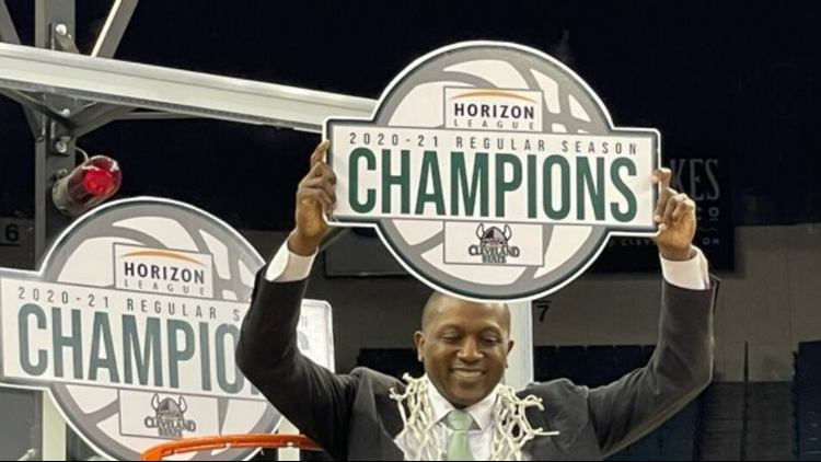 Cleveland State coach Dennis Gates goes one-on-one with 3News' Nick Camino after being named Horizon League Coach of the Year