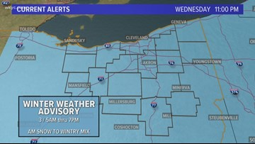 Winter Weather Advisory issued for all of Northeast Ohio
