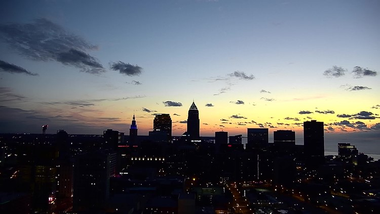 Cleveland sunset on August 22, 2019