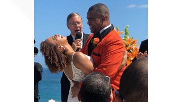 Love in the Land: 3News' Romney Smith & Jason Frazer marry in Puerto Rico