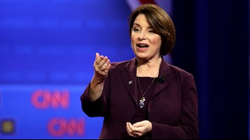 Democratic presidential candidate Amy Klobuchar talks 1-on-1 with 3News during campaign stop in Cleveland