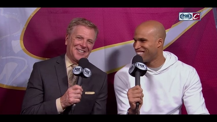 Fred McLeod sits with Richard Jefferson for Fox Sports Ohio.