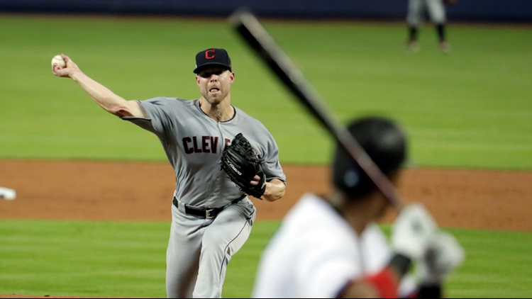 Indians pitcher Corey Kluber leaves game after being hit in arm by line drive