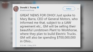 General Motors confirms it is 'in discussions' to sell dormant Lordstown plant to electric truck manufacturer