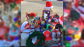 Toledo goes crazy for roadside weed decorated for Christmas