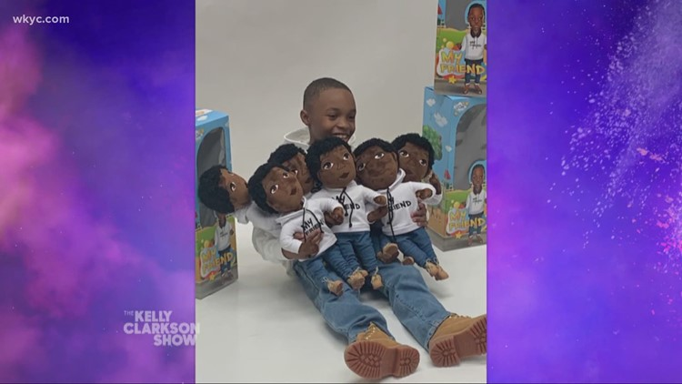 Twinsburg boy featured on 'Kelly Clarkson Show' after creating toy company with a special mission