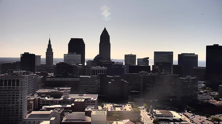 Downtown Cleveland on August 29, 2019
