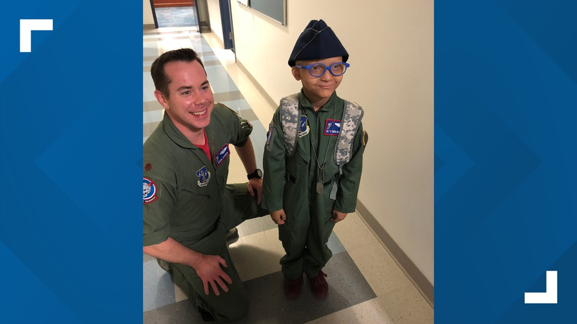 Boy with several health issues gets wish granted, becomes honorary member of Mansfield Air National Guard