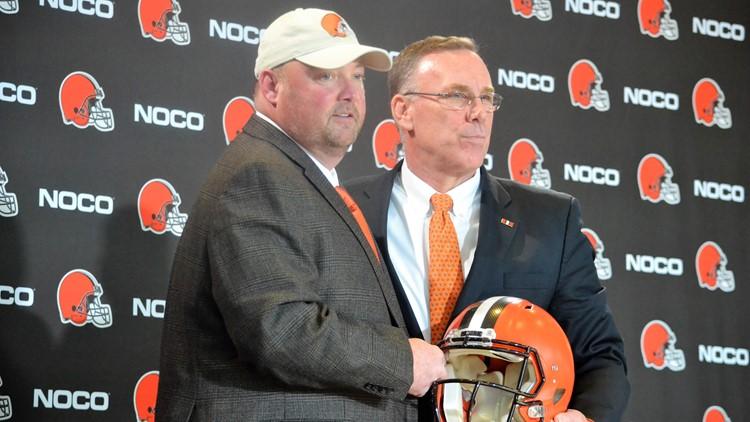 New Cleveland Browns coach Freddie Kitchens, GM John Dorsey