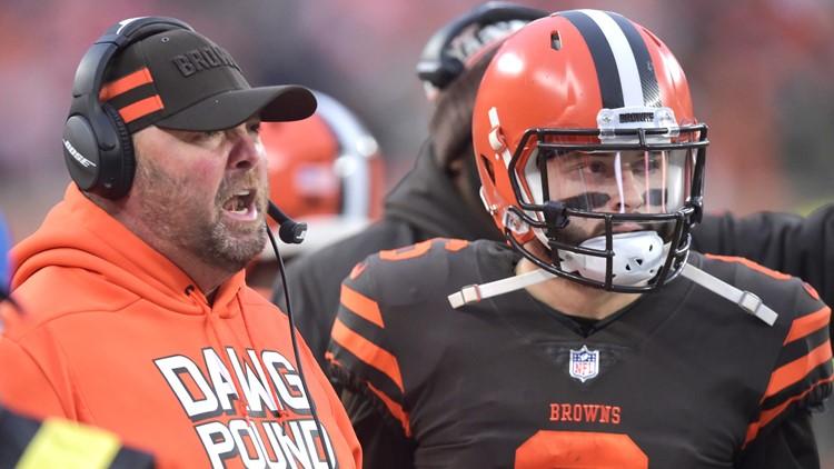Freddie Kitchens Baker Mayfield Cincinnati Bengals-Cleveland Browns Football