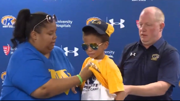 WATCH | Kent State holds 'Draft Day' event for 5-year-old boy to join men's basketball team