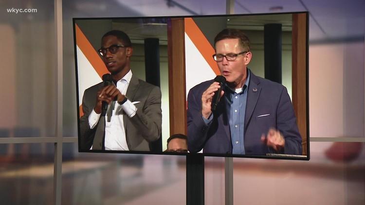 Kevin Kelley, Justin Bibb discuss violence during Thursday night mayoral forum