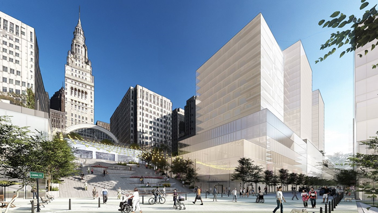City of Cleveland, Cavs owner Dan Gilbert's Bedrock real estate firm unveil plans for revamping riverfront near Tower City