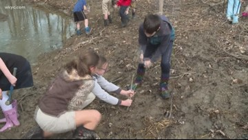 Girls in STEM: Local students restore portion of Euclid Creek