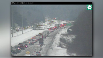 Crashes cleared after clogging I-77 North in Summit County with 80+ minute delays