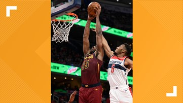 Tristan Thompson scores 21 in Cleveland Cavaliers' 113-100 win over Washington Wizards