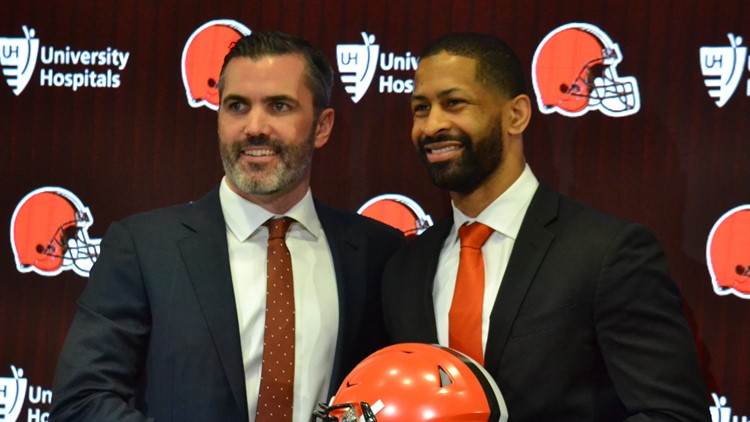 Cleveland Browns GM Andrew Berry, coach Kevin Stefanski