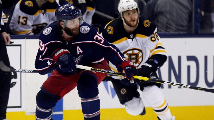 Boone Jenner Boston Bruins-Columbus Blue Jackets Hockey