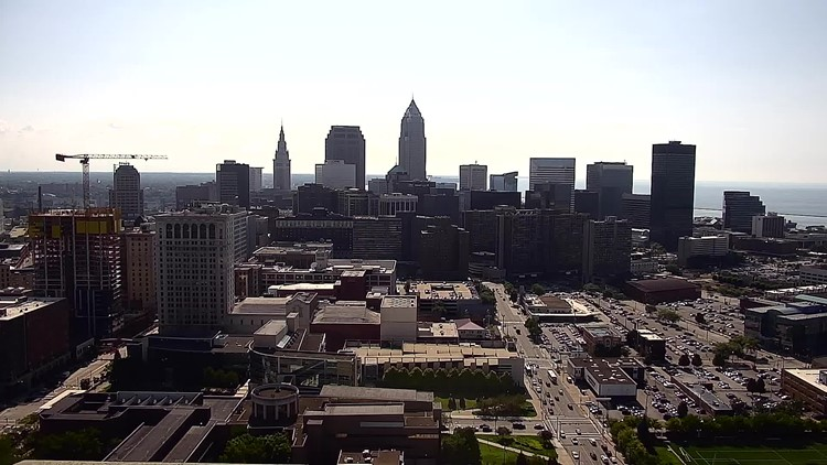 Downtown Cleveland on August 7, 2019
