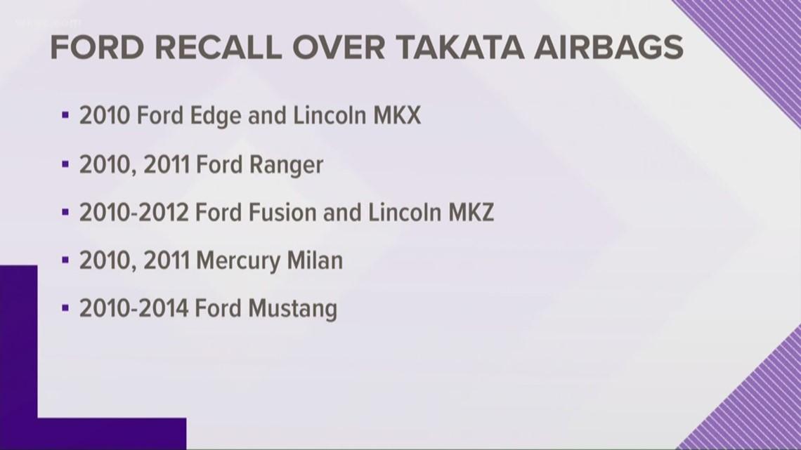 Takata Airbag Recall Ford - LA Auto Show