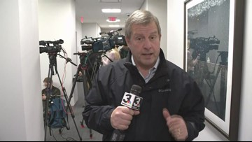 Tom Meyer reports as investigators search Armond Budish's offices