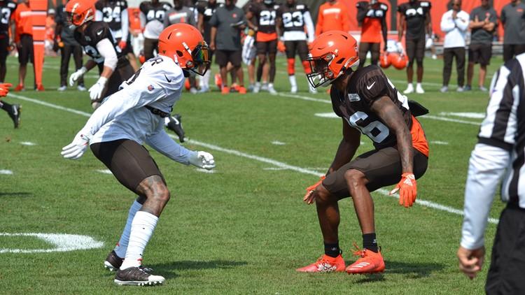 Odell Beckham Jr. Greedy Williams Cleveland Browns Training Camp July 28, 2019