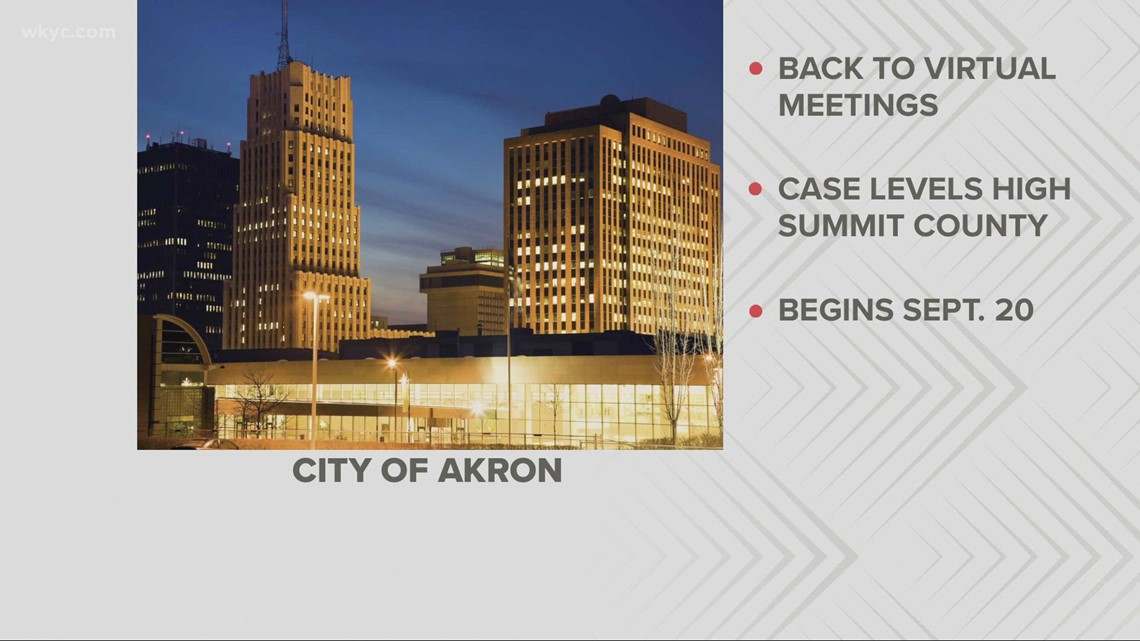 Akron city council returns to virtual meetings due to COVID concerns