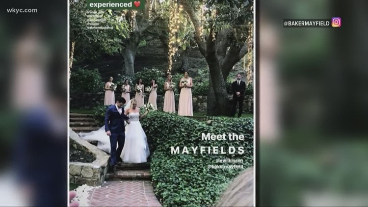 Baker Mayfield ties the knot