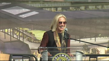 Cleveland Browns owners Jimmy and Dee Haslams take part in Columbus Crew SC stadium groundbreaking
