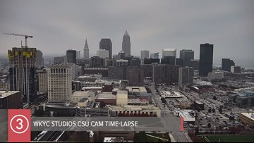 Friday all day Cleveland weather time-lapse for November 15, 2019