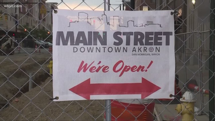 Main Street businesses struggle during Akron construction