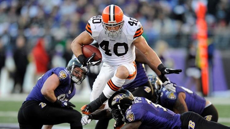 Peyton Hillis Cleveland Browns-Baltimore Ravens Football