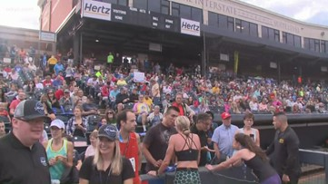Thousands race in the Akron Marathon today.