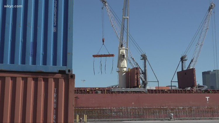 Port of Cleveland handling more containers during shipping backlog