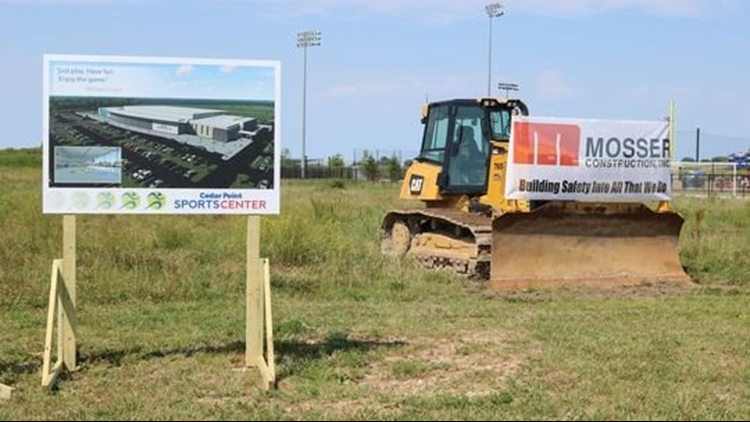 The construction of the new $28 million indoor sports facility is anticipated to take 15 to 18 months and is being done by Mosser Construction, of Fremont. (Photo: Jon Stinchcomb/News Herald)