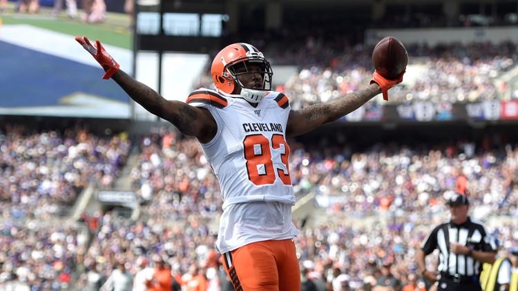 Ricky Seals-Jones Cleveland Browns-Baltimore Ravens Football