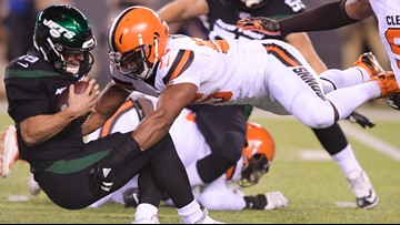 Watch: Myles Garrett records 3rd sack vs. New York Jets