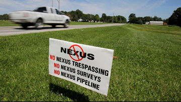 Opponents of NEXUS pipeline argue land was improperly seized