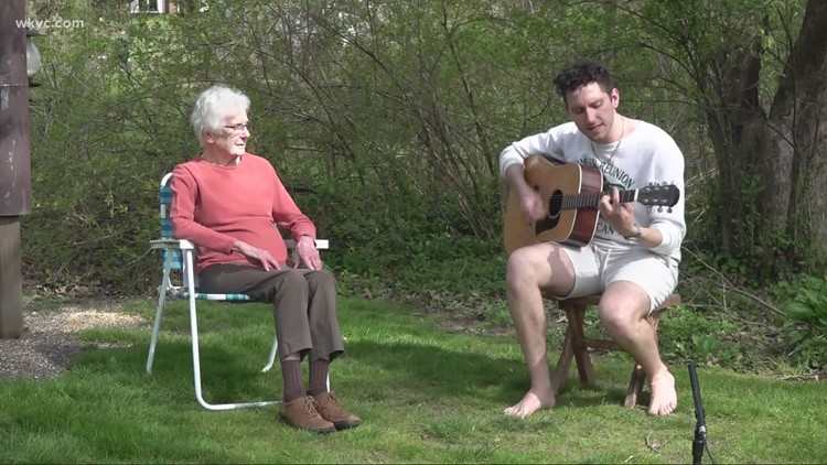 Musician Bucky Boudreau travels 451.9 miles to play a show for his grandmother in Canton