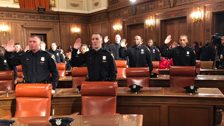 New Cleveland police officers sworn in at City Hall | wkyc com