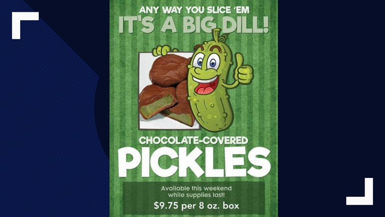 Just in time for Father's Day, Malley's offers chocolate-covered pickles