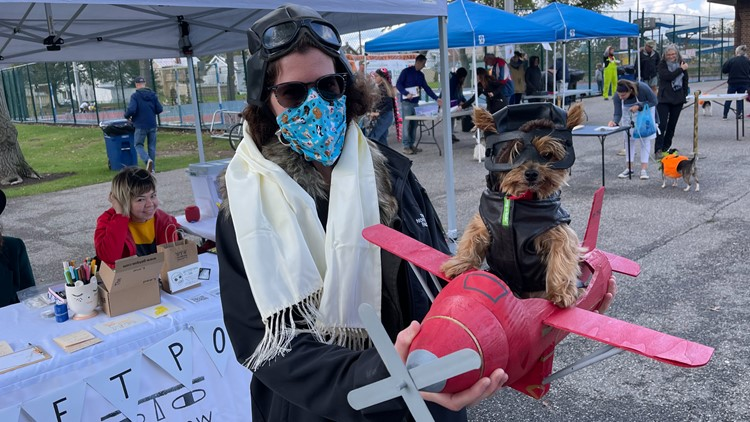 LOOK: Pups sport adorable costumes at Lakewood's 14th annual Spooky Pooch Parade!