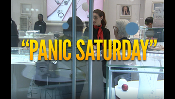 High anxiety! There's a new name for last minute shopping: Panic Saturday.