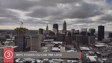 Tuesday afternoon Cleveland weather time-lapse for November 12, 2019