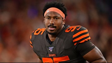 Cleveland Browns DE Myles Garrett says 'fan' punched him in the face after asking for photo